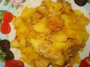 Рецепт жаркого из свинины с картошкой в духовке