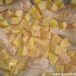 Куриные ножки, запеченные с картошкой в духовке