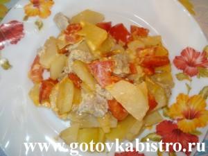 Мясо с картошкой и овощами