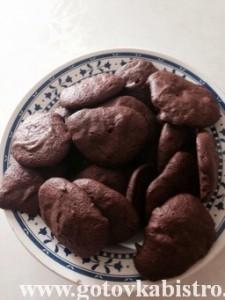 Вкусное шоколадное печенье
