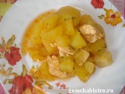 Запеченная картошка с мясом в духовке