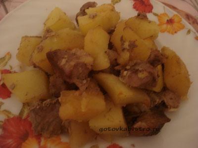Свинина в рукаве с картошкой