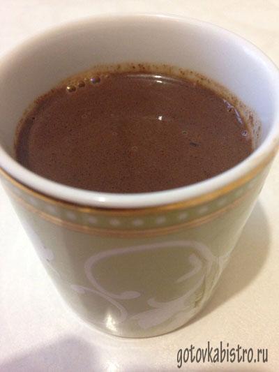 Рецепт горячего шоколада из какао
