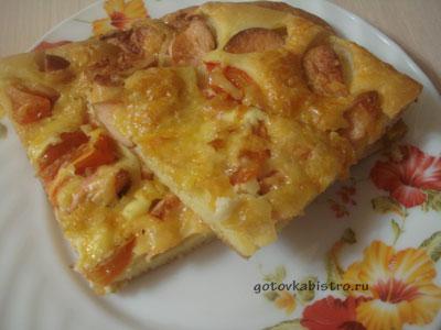 Рецепт вкусной домашней пиццы