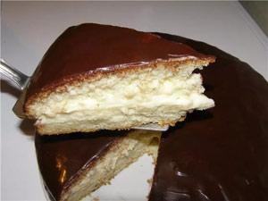 Простой торт с заварным кремом